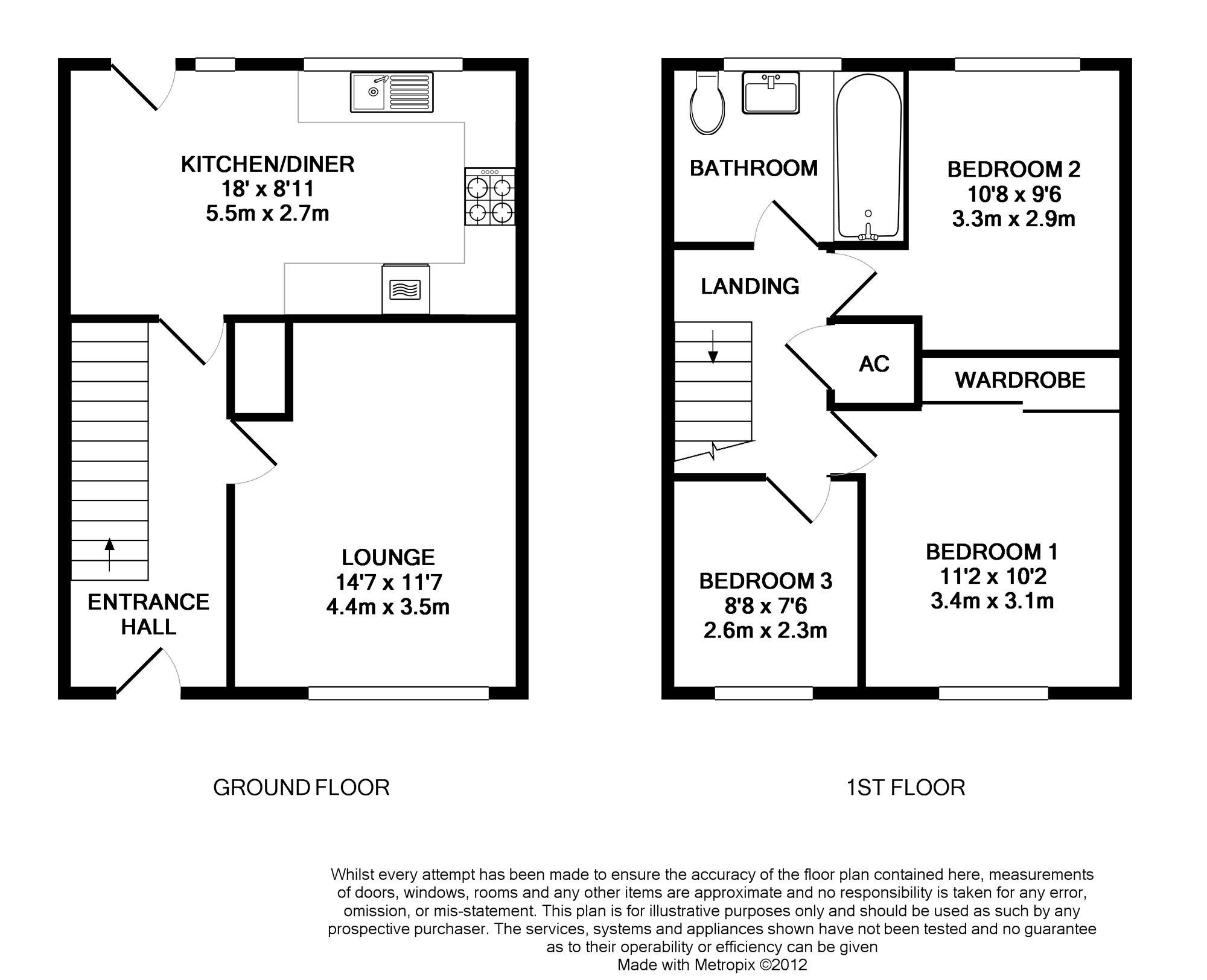 Floorplan for Brockworth, Yate.