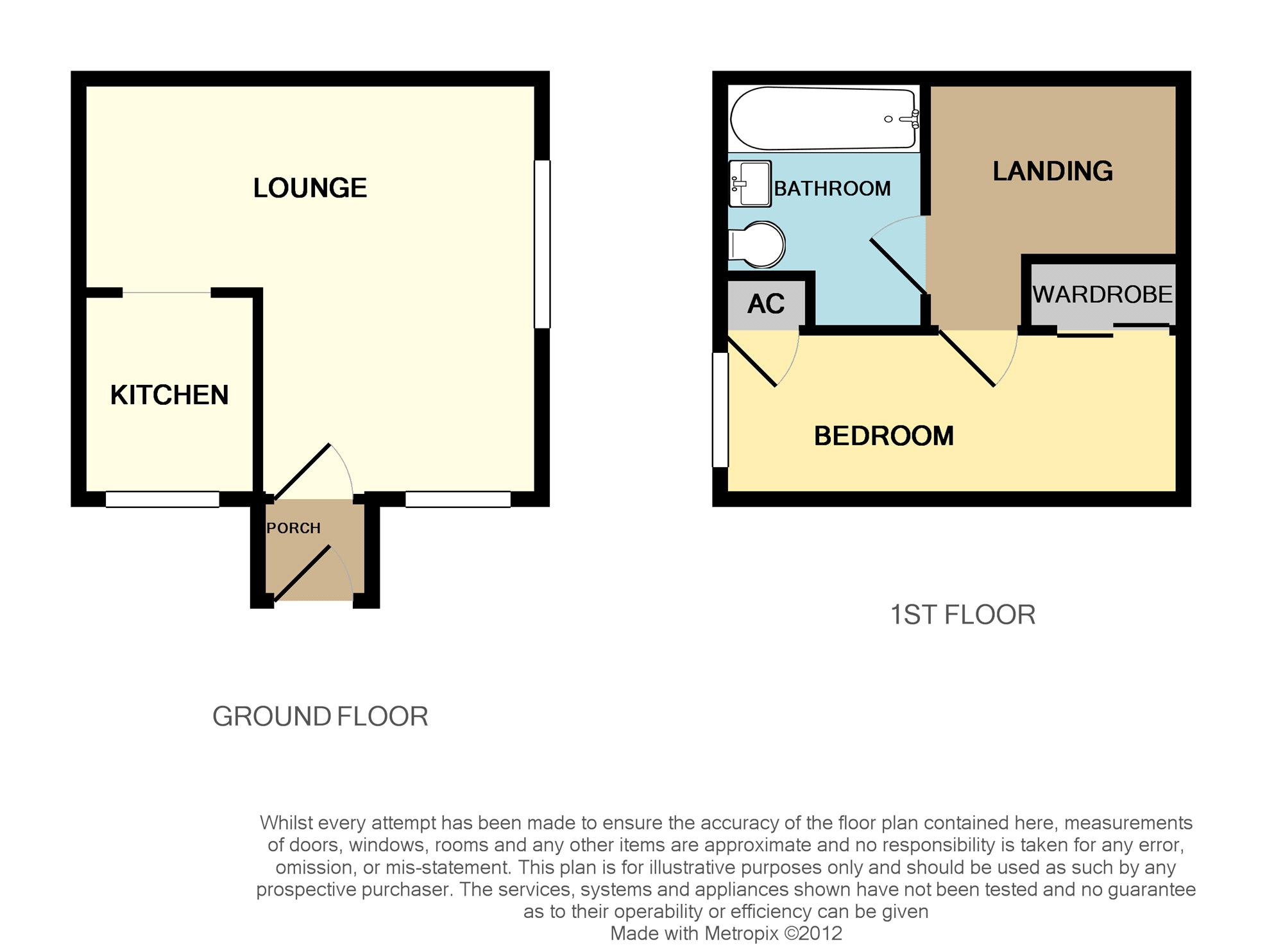 Floorplan for Cheshire Close, Yate.