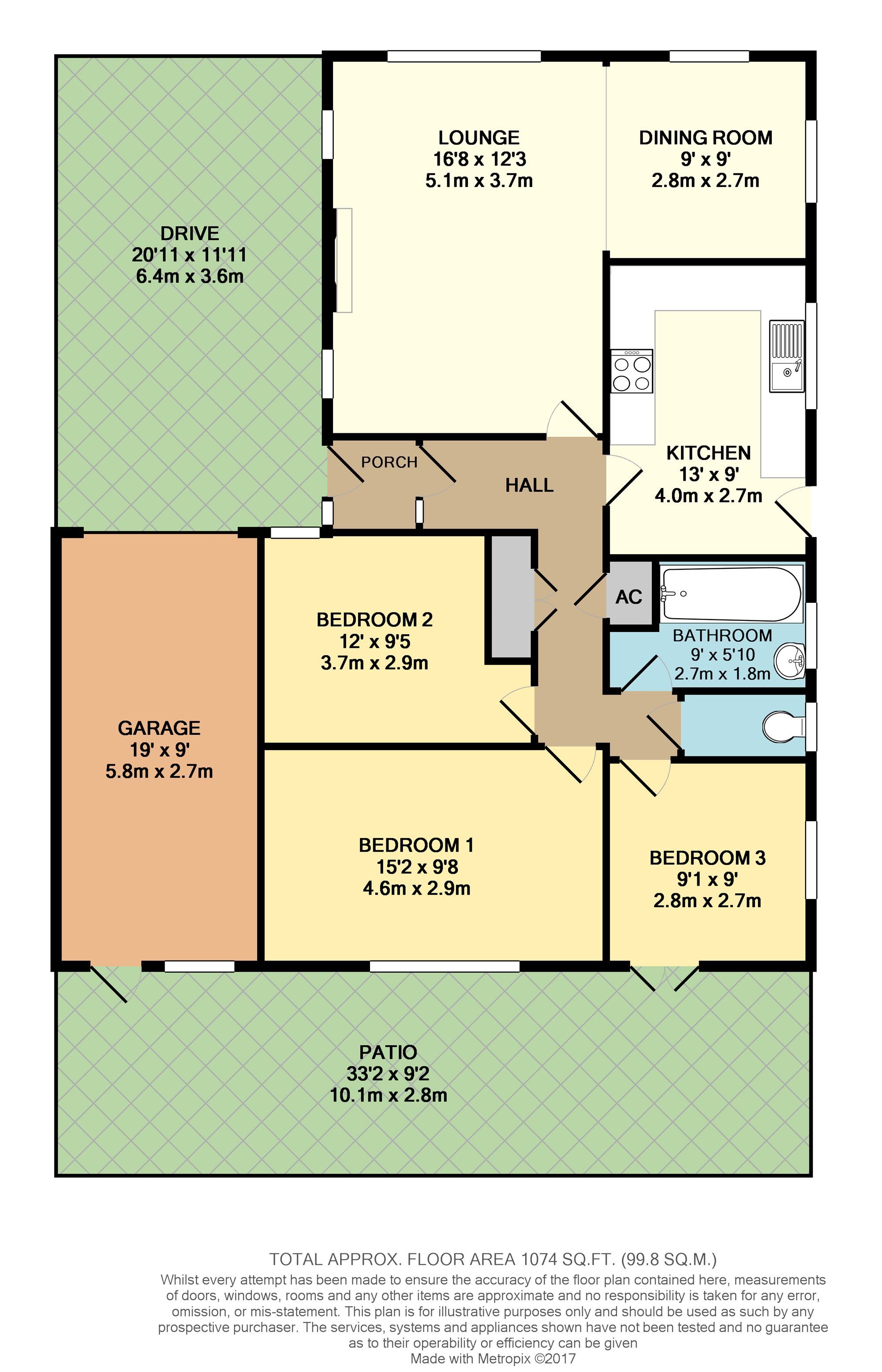 Floorplan of property at St Peters Crescent
