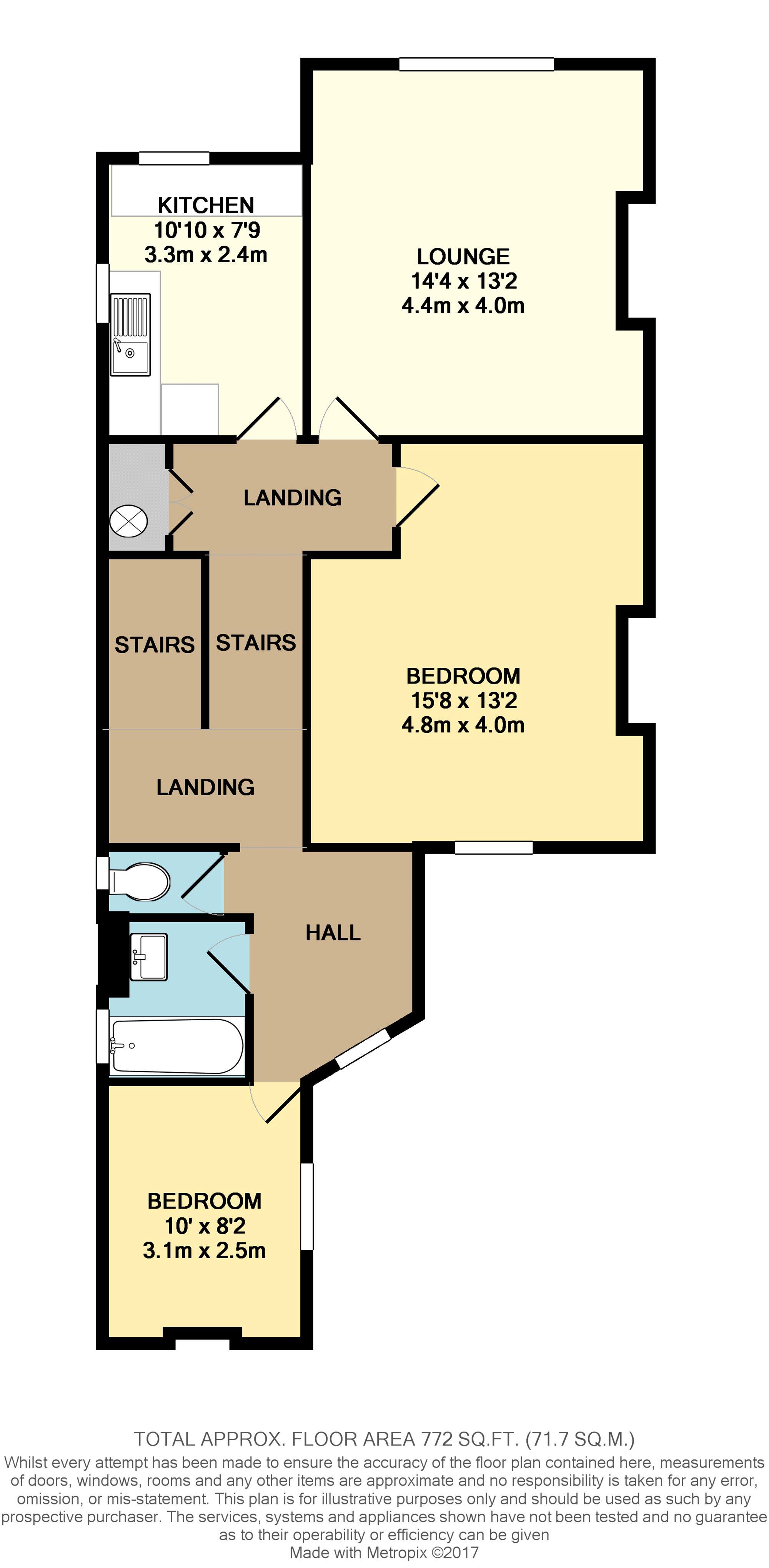 Floorplan of property at Sea Road
