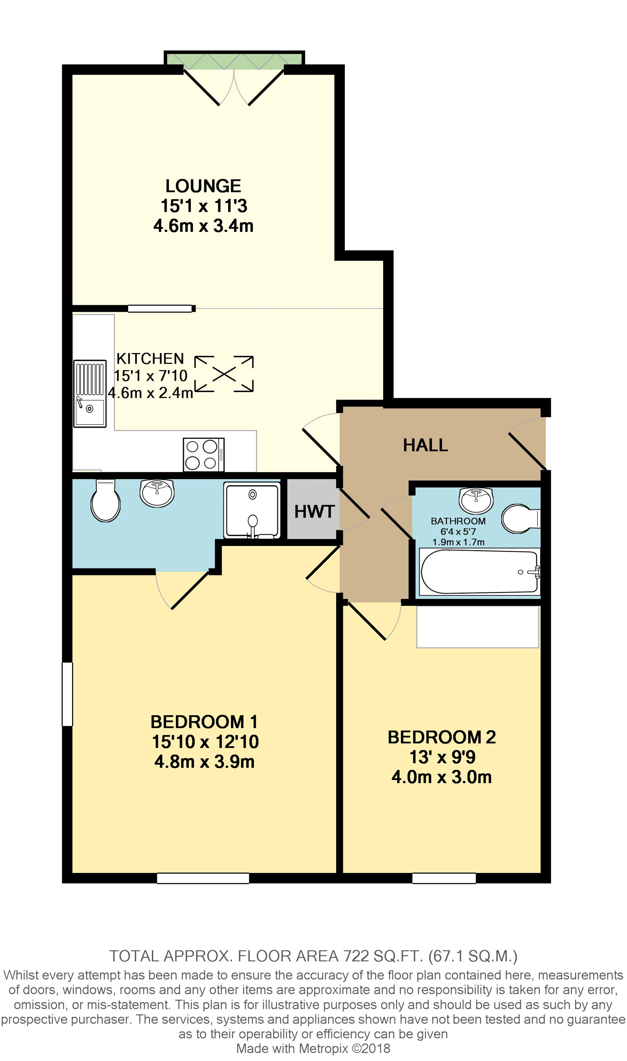 Floorplan of property at Dorset Road South