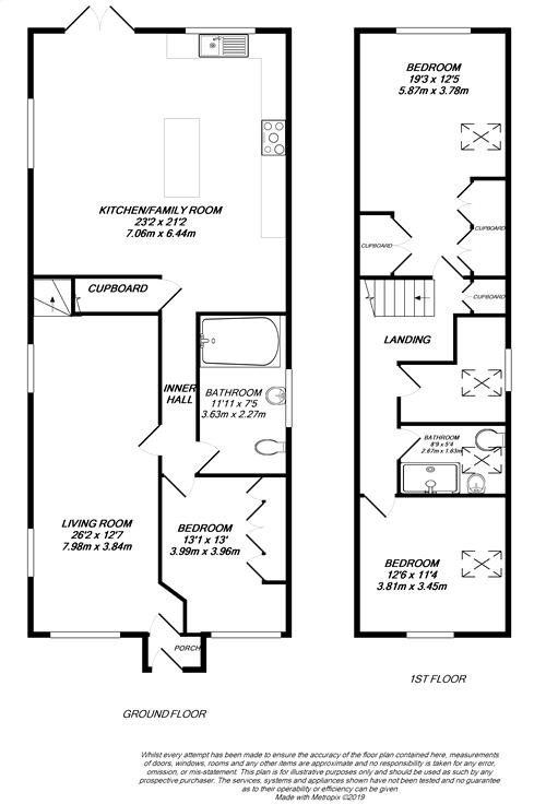 Floorplan for Uxbridge, Greater London