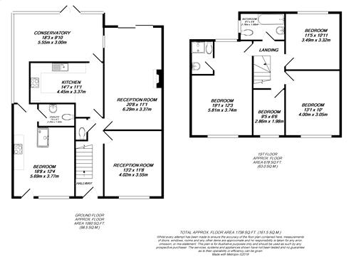 Floorplan for Ruislip, Middlesex
