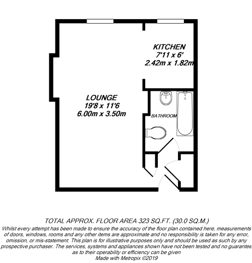 Floorplan for Uxbridge, Middlesex