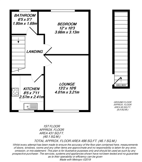 Floorplan for Hayes, Middlesex