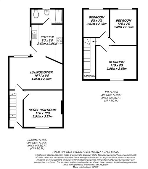 Floorplan for Sipson, Middlesex