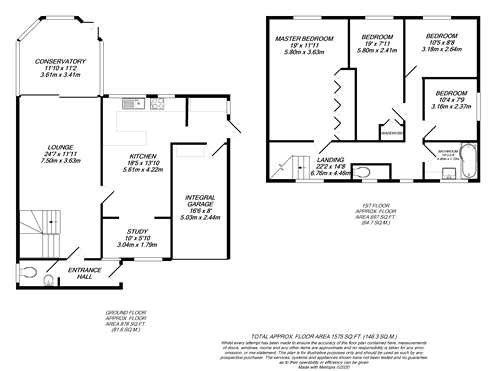 Floorplan for Iver Heath, Buckinghamshire