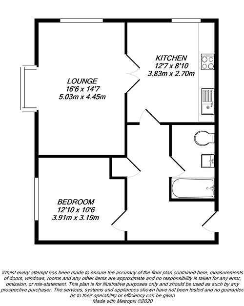 Floorplan for West Drayton, Middlesex
