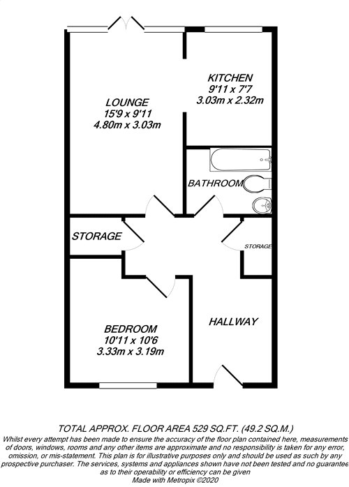 Floorplan for Denham, Buckinghamshire