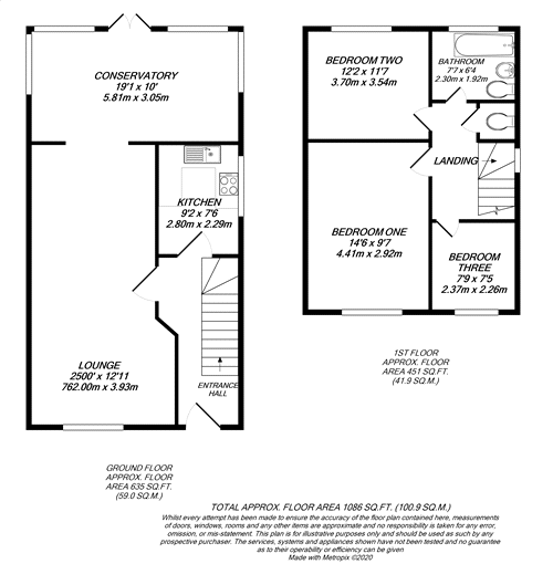 Floorplan for Denham Village, Bucks