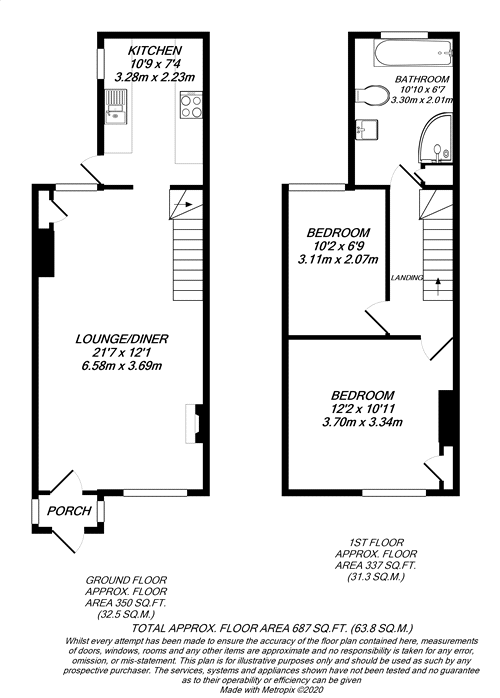 Floorplan for North Uxbridge, Middlesex