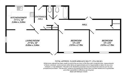 Floorplan for Hillingdon Village, Middlesex