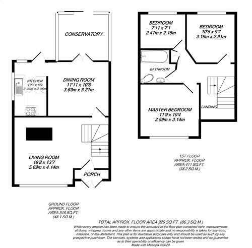 Floorplan for North Hillingdon, Middlesex