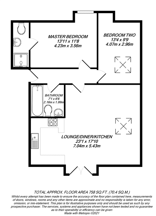 Floorplan for Iver, Buckinghamshire